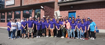 BIDMC Cares volunteers at Mission Hill Clean-up Day