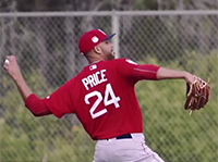 David Price Warming Up