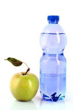 bottle water apple
