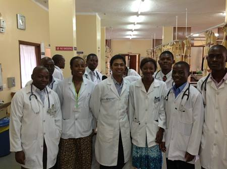Zambia medical student teaching rounds