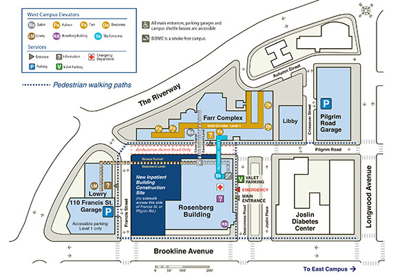 BIDMC West Campus Walking Map