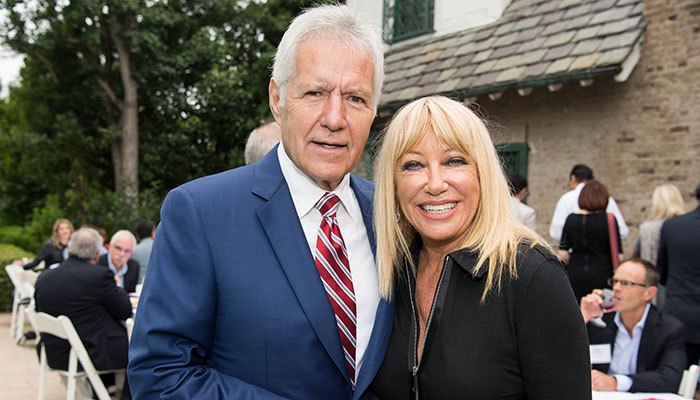 Alex Trebek and Suzanne Somers