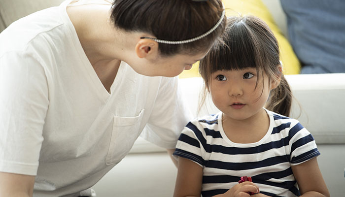 Asian Mother with Young Daughter