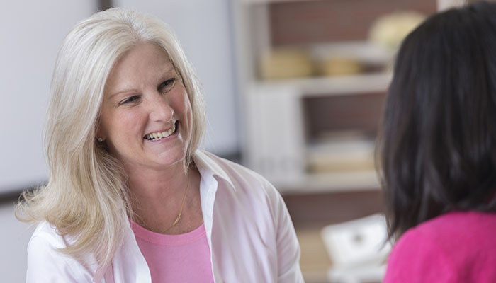 Breast Cancer Patient with Oncology Therapist