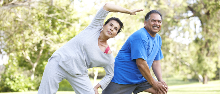 couple beginning exercise