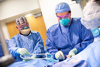 BIDMC Cardiac Surgeons are operating on a patient