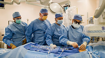 CVI surgeons implanted the first CoreValve in a severe aortic stenosis patient since FDA approval.