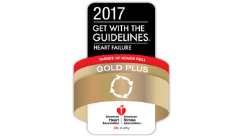 2017 Get with the Guidelines: Heart Failure, Gold Plus award