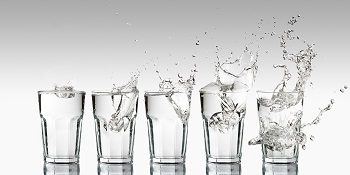 Aim for 6-8 glasses of water per day