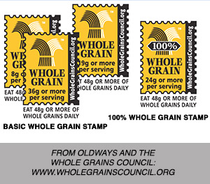 100% Whole grain stamp from the Whole Grain Council