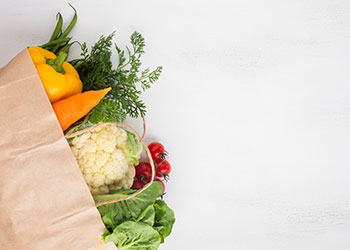Healthy Vegetables in a Grocery Bag