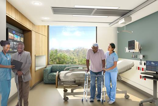 BIDMC's New Inpatient Building - Patient Room