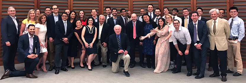 Gastroenterology Fellowship fellows and alumni at 2018 dinner