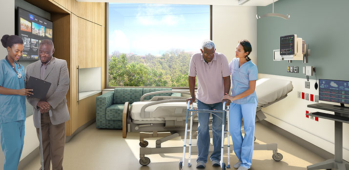 BIDMC Patient Room Rendering